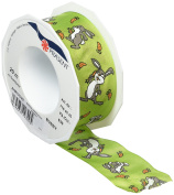 Prasent Easter Wired Edge Ribbon, Green