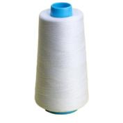Bluelans® White Overlocking Sewing Machine Polyester Thread 3000 Yards Cones