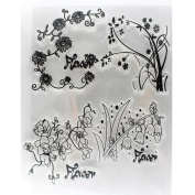 Hunpta Alphabet Transparent Silicone Clear Rubber Stamp Sheet Cling Scrapbooking DIY Size--15.5*11cm