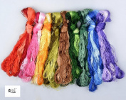 2500 Silk Art China Natural 100% Mulberry Silk Floss Handmade Embroidery Woven Jewellery Threads DIY Kits 50 Colours 100m SIX001