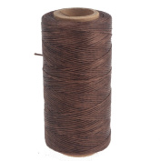 Black Brown Grey White 220m x 0.8mm Sewing Leather Waxed Waxing Polyster Thread