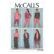 """Mccall's Patterns """"7548 RR"""" Misses/Women's Jacket/Tops/Skirt And Pants, Multi-Colour, Size 18W-24W"""