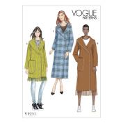 Vogue Patterns 9231 ZZ Misses Coat Sewing Pattern, Multi-Colour, Large - 2X-Large