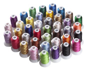 Simthreads 40 Brother Colours Polyester Embroidery Thread, 550 Yrds Each