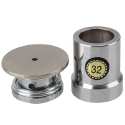 WEONE Silver Heavy Duty Metal Fabric Covered Button Dies Mould Tool 32L For 0.3-0.7mm Thickness
