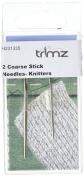 TSL 2 Knitting Needles, Silver
