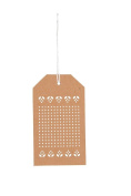 Rico Design Kraft Embroidery Tags, Paper, Nature