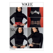 Vogue Patterns 9222 OS Misses Belts Sewing Patterns, Tissue, Multi-Colour, Sizes X-Small - X-Large