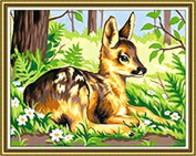 GMMH Diamond Picture 14 x 18 Diamond Painting Embroidery Painting Handmade Craft Mosaic Spring Deer