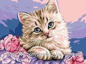GMMH Diamond Picture 14 x 18 Diamond Painting Embroidery Painting Handmade Craft Mosaic Cat