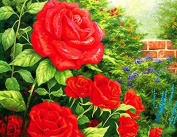 GMMH Diamond Picture 14 x 18 Diamond Painting Embroidery Painting Handmade Craft Mosaic Floral Roses