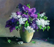 GMMH Diamond Photo 40 x 50 Diamond Painting Embroidery Painting Handmade Craft Mosaic Flowers Lilac