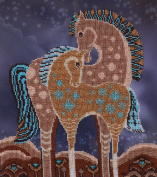 Fairy-tale Horses Counted Bead Embroidery Kit 27x31 cm