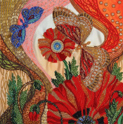 Fantasy Free-Form Bead Embroidery Kit 33x30 cm