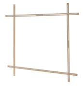 Elbesee Popular Adjustable Slot Frame, Wood, Brown, 1000 mm