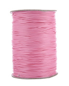 niceEshop(TM) Waxed Cotton Cord String for Beading and Macrame Supplies Beading Thread,pink