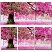 KAMIERFA Sakura Cherry Blossom Trees DIY Cross Stitch Embroidery Kit Home Decor Arts, Crafts & Sewing Cross Stitch