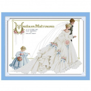 KAMIERFA Cross Stitch Cartoon Two Flower Girl's Wedding