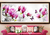 KAMIERFA Butterfly Orchid DIY Cross Stitch Embroidery Kit Home Decor Arts, Crafts & Sewing Cross Stitch