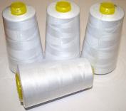 Overlockgarn 50s/2 5000 Yards (4570 m) Pack of 4 Pack of 4 white