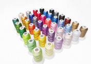 Simthread 40 Colours 500 Metre Polyester Embroidery Thread for Brother Babylock Janome Singer Pfaff Husqvarna Bernina Machines