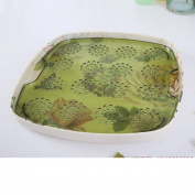 Kitchen Double Drain Water Tray European Style Creative Fruit Plate Tea Tray-C