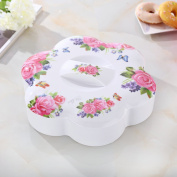 Thicken Melamine Fruit Plate Moisture-proof Candy Box Sealed Fruit Plate Dried Fruit Box-B
