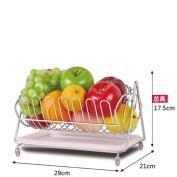 Creative Stainless Steel Fruit Basket Living Room Decoration Bowls Drain Basket Fruit Storage Basket-B
