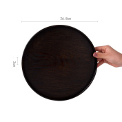 Wooden Fruit Plate Round Tea Tray Fruit Tray Plate-B