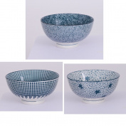 Bowl 15 cm Assorted Porcelain/Denim 3