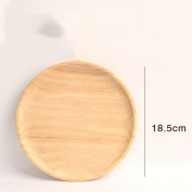 Wooden Bowls Tray Round Plate Bread Snack Plate Candy-D