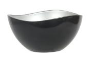 novastyl 8013914 Metallik Glass Bowl 21 x 21 x 10.5 cm Black