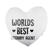 World's best Literary Agent Heart Shaped Pillow Cover