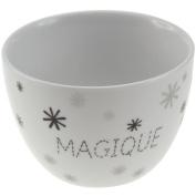Impact Paris 54637 bol-magique, 10.2 x 10.2 x 7 cm Porcelain White