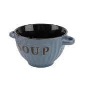 CGB Giftware Soup Bowls 4 Multicoloured Inscribed Bowls (One Size)