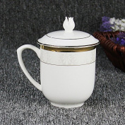 AJUNR-Home Office Cups Osteoporosis Porcelain Bowl Cover Ceramic Conference Cup Creative Office Tea Cup Mug