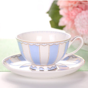 European style coffee cup and Saucer Set Ceramic English afternoon tea / tea cup and Saucer Set,blue