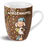 NICI Fancy Mugs, 10.5 x 12 x Morgenmuffel Mug, 8.3 cm