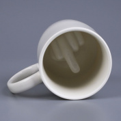 Kicode Ceramic Middle Finger Designed Coffee Milk Drinkware Barware Mug Cup Kitchen Tool