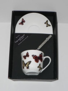 Butterfly cup and saucer set, bone china gift boxed set wtih teaspoon