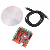 CNC MACH3 USB 4 Axis Motion Control Card, Interface Breakout Board for Stepper Motor Driver