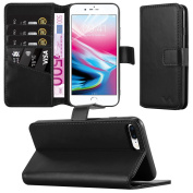 Apple iPhone 8 Plus Case - iPhone 8 Plus Leather Case Premium PU Leather Wallet Case Magnetic Closure Flip Cover with Card Slots Stand View Protective Phone Cover For Apple iPhone 8 Plus / iPhone 8+