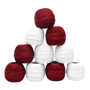 Mercer Cotton Crochet 10 Pcs Skein Yarn Knitting Embroidery Thread Tatting Craft