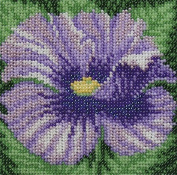 Blue Poppy Counted Bead Embroidery Kit 12x12 cm