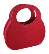 La Fourmi 20 x 20 cm Felt Bag, Red