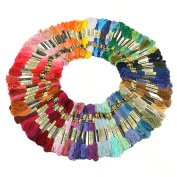 Tinksky Embroidery Threads Embroidery Floss Threads,100 Skeins