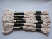 Pack of 6 Trebla Embroidery Thread / Skeins - 8m - Skin Tone - Col. 309