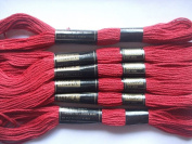 Pack of 6 Trebla Embroidery Thread / Skeins - 8m - Red Sunset - Col. 865