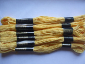 Pack of 6 Trebla Embroidery Thread / Skeins - 8m - Mikado Yellow - Col. 104