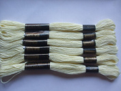 Pack of 6 Trebla Embroidery Thread / Skeins - 8m - Vanilla - Col. 5130
